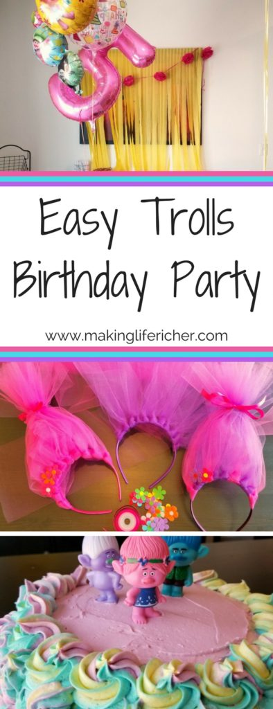All In The Trolls Birthday Party Was A Success My Baby Girl Who Is No Longer Sniff Had Wonderful Time Celebrating With Her
